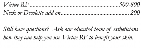 Virtue RF Pricing